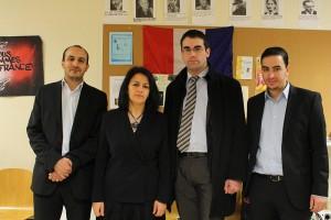 (De gauche à droite) M. Ouarezki, la présidente D. Boussada, Frédéric Diard, adjoint du sous-préfet en charge de la Politique de la ville et M. Guirrati, vice-président de l'association.