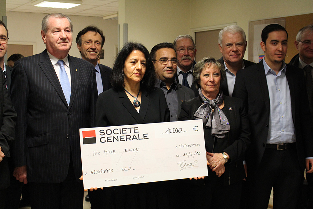Un chèque de 10 000 euros du Rotary Club