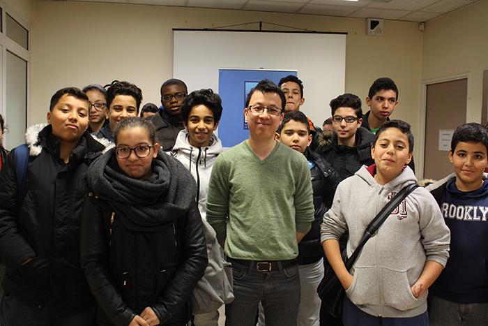 Khay, ingénieur, initie nos élèves à la sécurité informatique