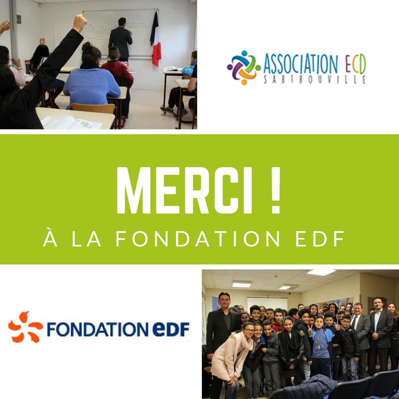 ECD remporte l'appel à projet de la Fondation EDF et un soutien financier de 10 000 euros