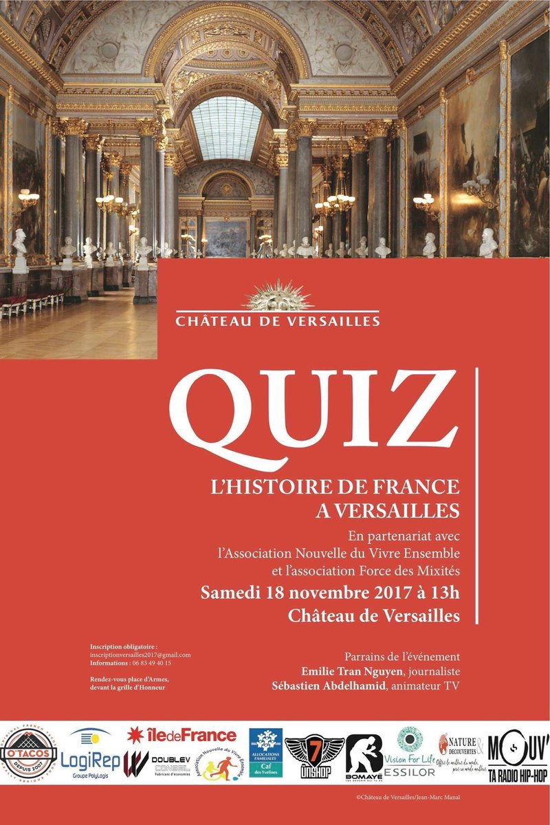 """Les jeunes d'Ecd Sartrouville participent au """"Plus grand QUIZ de France au Château de Versailles"""""""