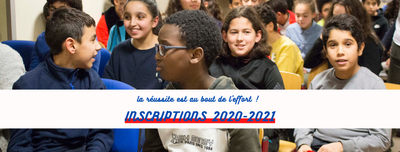 Inscriptions 2020-2021 !