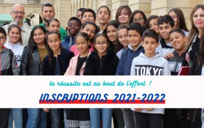 Inscriptions 2021-2022 !
